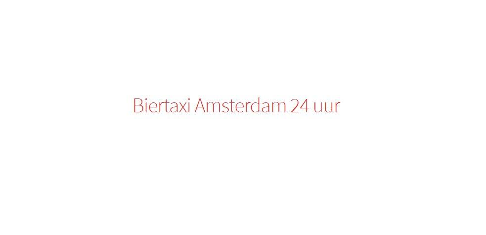 Biertaxi Amsterdam