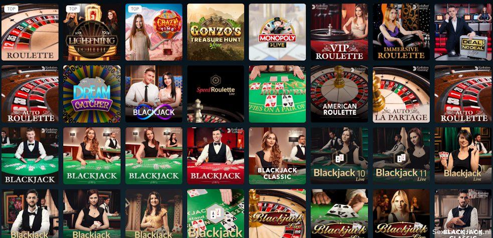 Echte live games met dealers in een casino