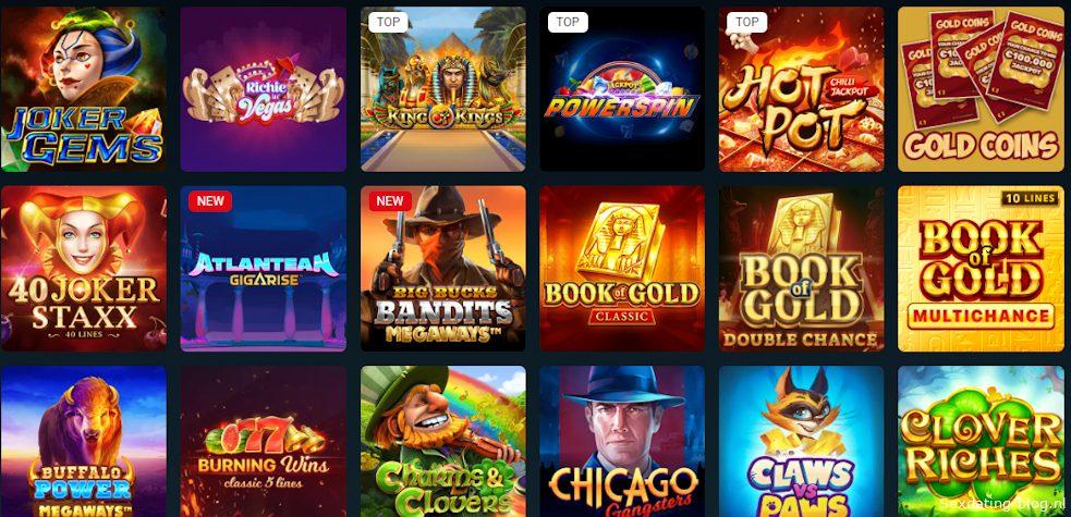 Casino games met een jackpot